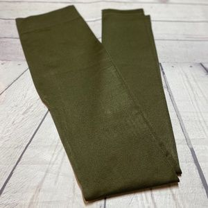 Zenana Outfitters Olive Green Leggings S/M